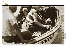The Baby Flyer With Ed Ricketts And John Steinbeck  In Sea Of Cortez  1940 Carry-all Pouch
