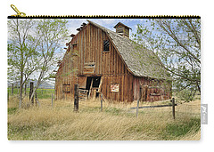 Carry-all Pouch featuring the photograph the Barn  by Fran Riley