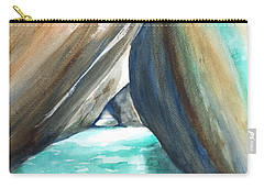 The Baths Turquoise Carry-all Pouch by Carlin Blahnik