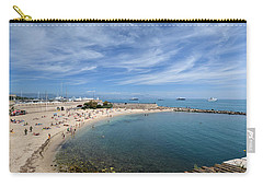 Carry-all Pouch featuring the photograph The Beach At Cap D' Antibes by Allen Sheffield