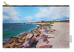 Carry-all Pouch featuring the painting The Beach At Ponce Inlet by Deborah Boyd