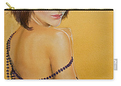 Carry-all Pouch featuring the painting The Beaded Shawl by Jani Freimann