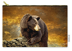 The Bear Went Over The Mountain Carry-all Pouch by Lois Bryan