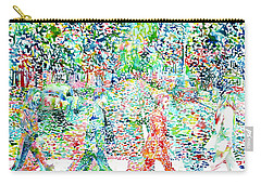 The Beatles - Abbey Road - Watercolor Painting Carry-all Pouch