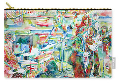 The Beatles Rooftop Concert - Watercolor Painting Carry-all Pouch