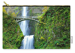 The Beauty Of Multnomah Falls Carry-all Pouch by Jeff Swan