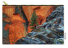 The Beauty Of Sandstone Zion Carry-all Pouch by Bob Christopher