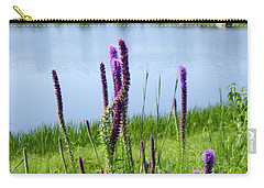 Carry-all Pouch featuring the photograph The Beauty Of The Liatris by Verana Stark