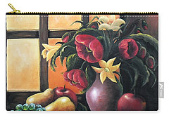 Carry-all Pouch featuring the painting The Beauty Of The Moment   by Vesna Martinjak