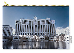 The Bellagio Hotel And Casino In Infrared Carry-all Pouch