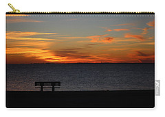 Carry-all Pouch featuring the photograph The Bench by Faith Williams