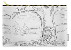 Carry-all Pouch featuring the painting The Big Oak  by Felicia Tica