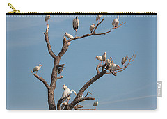 Carry-all Pouch featuring the photograph The Bird Tree by John M Bailey