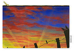 The Birds - Red Sky At Night Carry-all Pouch