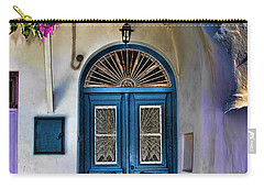 The Blue Door-santorini Carry-all Pouch by Tom Prendergast
