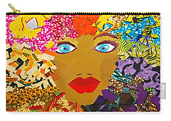 Carry-all Pouch featuring the tapestry - textile The Bluest Eyes by Apanaki Temitayo M