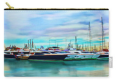 Carry-all Pouch featuring the painting The Boats Of Malaga Spain by Deborah Boyd