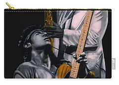 Bruce Springsteen And Clarence Clemons Carry-all Pouch by Thomas J Herring