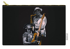 Carry-all Pouch featuring the painting Bruce Springsteen And Clarence Clemons by Thomas J Herring