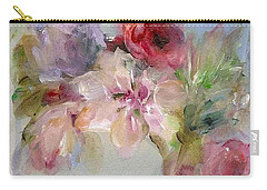 Carry-all Pouch featuring the painting The Bouquet by Mary Wolf