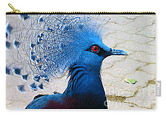 Carry-all Pouch featuring the photograph The Bright Blue Bird by Nina Silver