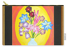 Carry-all Pouch featuring the painting The Bud Vase by Ron Davidson
