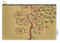 the Butterly heart Tree Carry-all Pouch