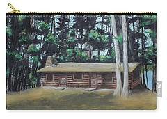 The Cabin Carry-all Pouch by Jeanne Fischer