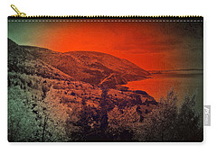 Carry-all Pouch featuring the digital art The Cabot Trail by Jason Lees