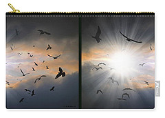 The Call - The Caw - Gently Cross Your Eyes And Focus On The Middle Image Carry-all Pouch