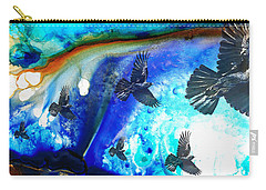 The Calling - Raven Crow Art By Sharon Cummings Carry-all Pouch by Sharon Cummings