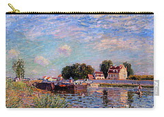 The Canal At Saint-mammes Carry-all Pouch by Alfred Sisley