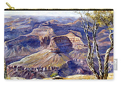 Carry-all Pouch featuring the painting The Canyon by Lee Piper