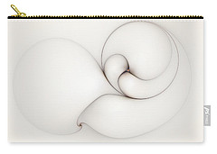 Carry-all Pouch featuring the digital art The Caress by Casey Kotas