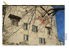 Carry-all Pouch featuring the photograph The Castle Greets A Sunny Day by Felicia Tica