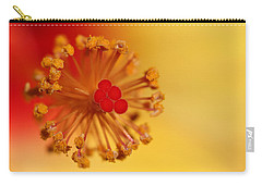 The Center Of The Hibiscus Flower Carry-all Pouch by Debbie Oppermann
