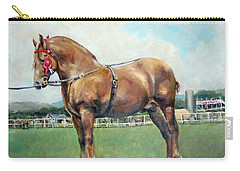 Carry-all Pouch featuring the painting The Champ by Donna Tucker