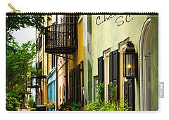 The Charm Of Charleston Carry-all Pouch by Karol Livote