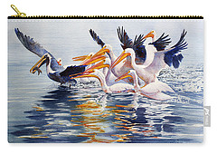 Carry-all Pouch featuring the painting The Chase Of The Outsider by Roger Rockefeller