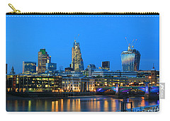 The Cheesegrater And The Walkie Talkie Carry-all Pouch by Jasna Buncic