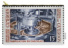 The Chocolate Factory Vintage Postage Stamp Carry-all Pouch by Andy Prendy