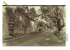 Carry-all Pouch featuring the photograph The Church Lane by Elaine Teague