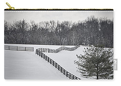 The Color Of Winter - Bw Carry-all Pouch by Mary Carol Story