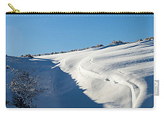 Carry-all Pouch featuring the photograph The Colors Of Snow by Michael Chatt