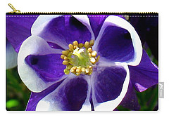 Carry-all Pouch featuring the photograph The Columbine Flower by Patti Whitten