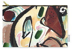 Carry-all Pouch featuring the painting The Conversation 2 by Stephen Lucas