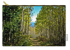 Carry-all Pouch featuring the painting The Cool Path Through Arizona Aspens by John Haldane