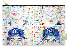 the CORE FOUR - watercolor portrait.1 Carry-all Pouch by Fabrizio Cassetta