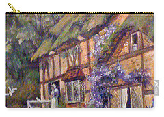 Carry-all Pouch featuring the painting The Cottage by Donna Tucker