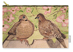 Carry-all Pouch featuring the painting The Courtship by Angela Davies